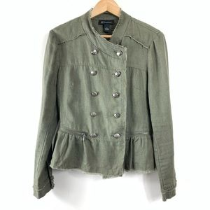 INC Army Green Double Breasted Jacket
